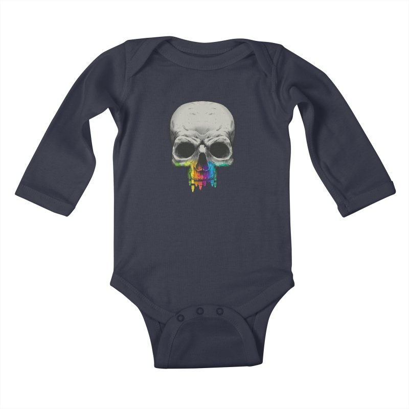 The Many Colors of Death Kids Baby Longsleeve Bodysuit by Nikoby's Artist Shop