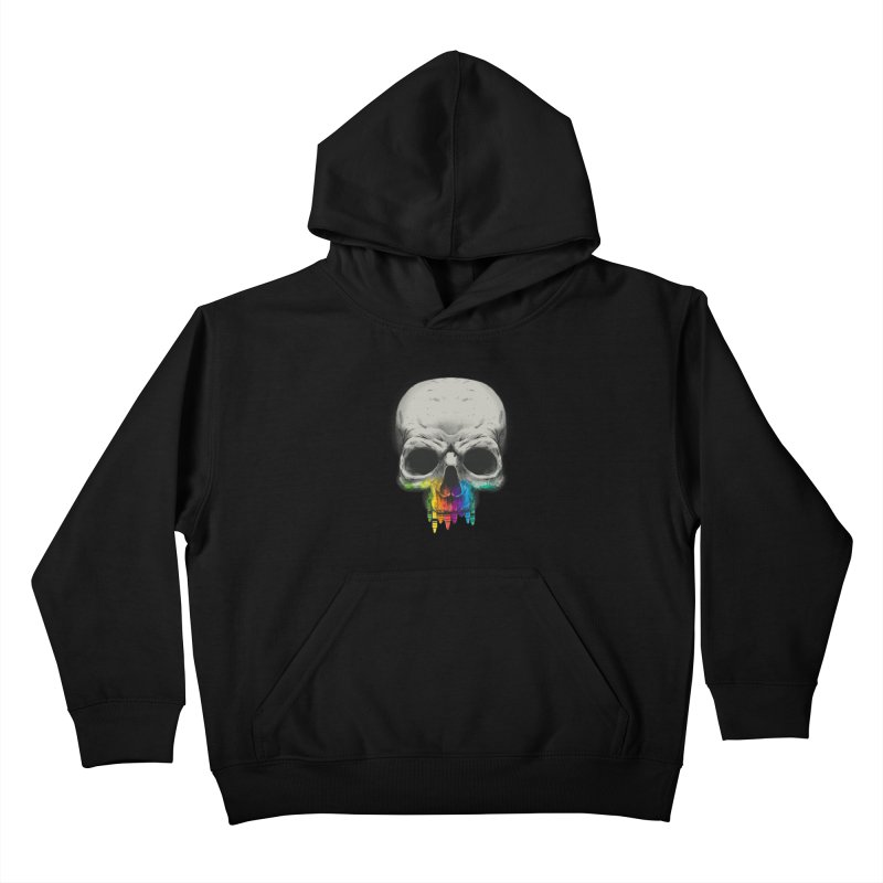 The Many Colors of Death Kids Pullover Hoody by Nikoby's Artist Shop