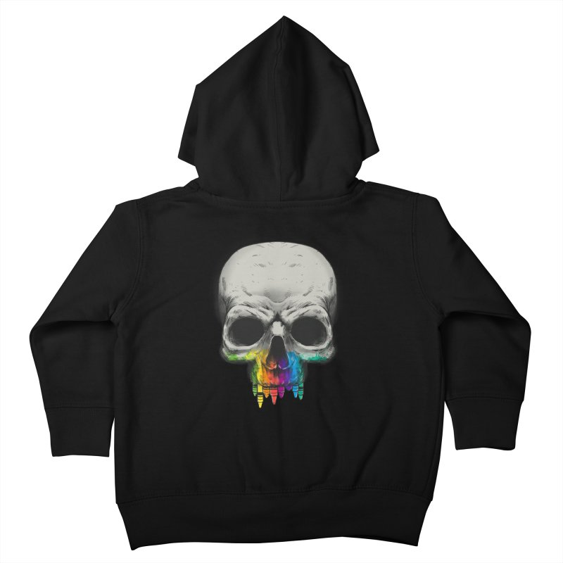 The Many Colors of Death Kids Toddler Zip-Up Hoody by Nikoby's Artist Shop