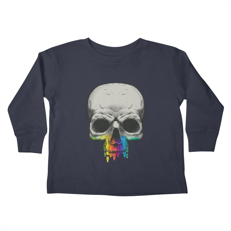 The Many Colors of Death Kids Toddler Longsleeve T-Shirt by Nikoby's Artist Shop