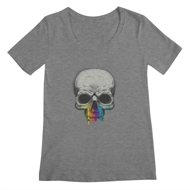 The Many Colors of Death Women's Scoopneck by Nikoby's Artist Shop