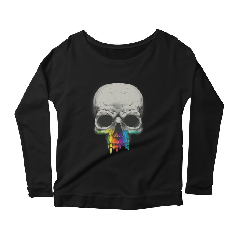 The Many Colors of Death Women's Longsleeve Scoopneck  by Nikoby's Artist Shop