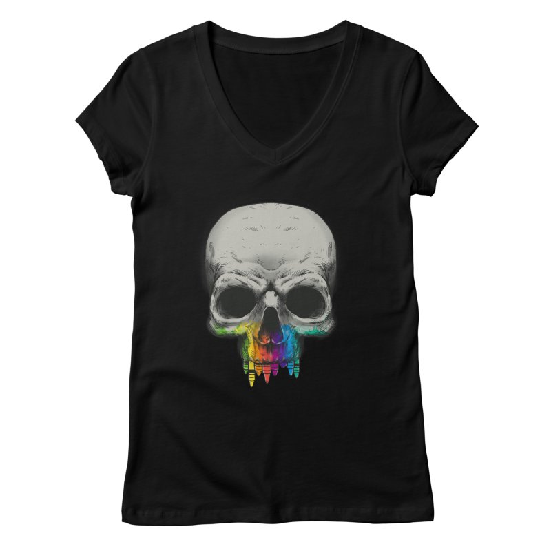 The Many Colors of Death Women's V-Neck by Nikoby's Artist Shop