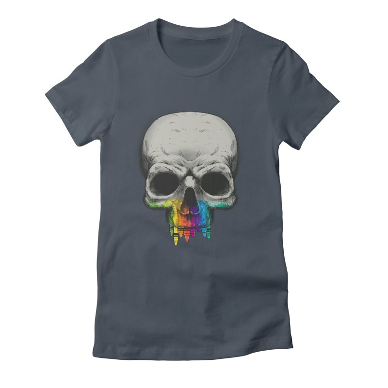 The Many Colors of Death Women's Fitted T-Shirt by Nikoby's Artist Shop