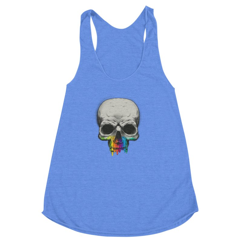 The Many Colors of Death Women's Racerback Triblend Tank by Nikoby's Artist Shop
