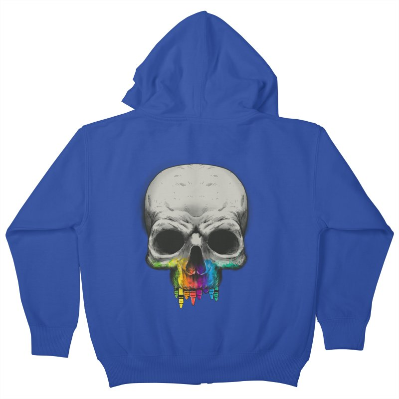 The Many Colors of Death Kids Zip-Up Hoody by Nikoby's Artist Shop