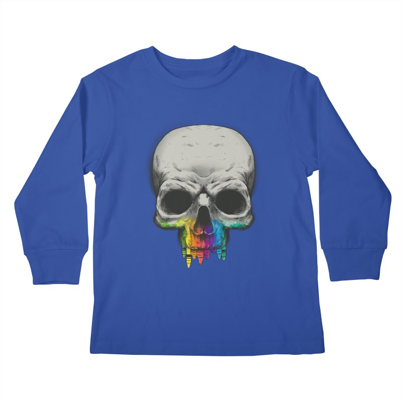 The Many Colors of Death Kids Longsleeve T-Shirt by Nikoby's Artist Shop