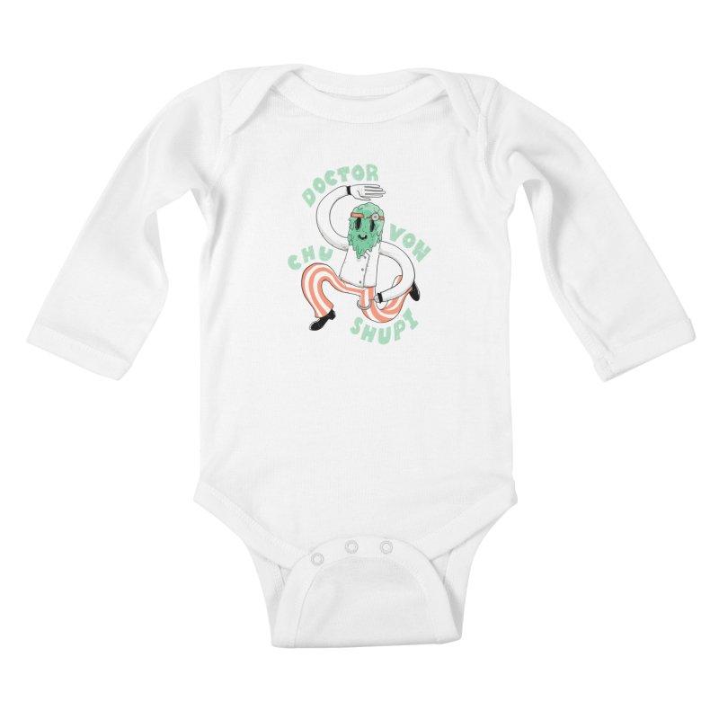 Doctor Von Chu Shupi Kids Baby Longsleeve Bodysuit by Nikoby's Artist Shop