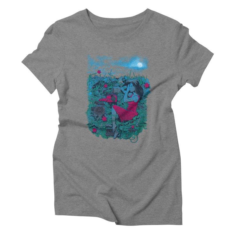 Escape Women's Triblend T-shirt by Nikoby's Artist Shop