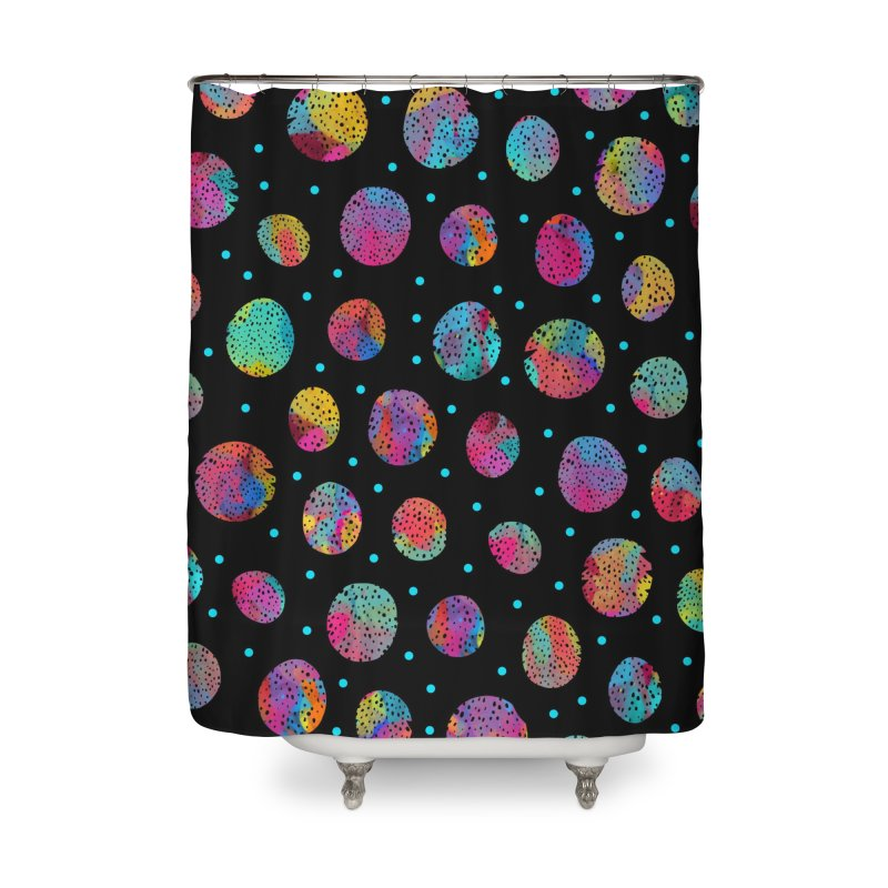Cosmic Circles Home Shower Curtain by Nikola Nupra