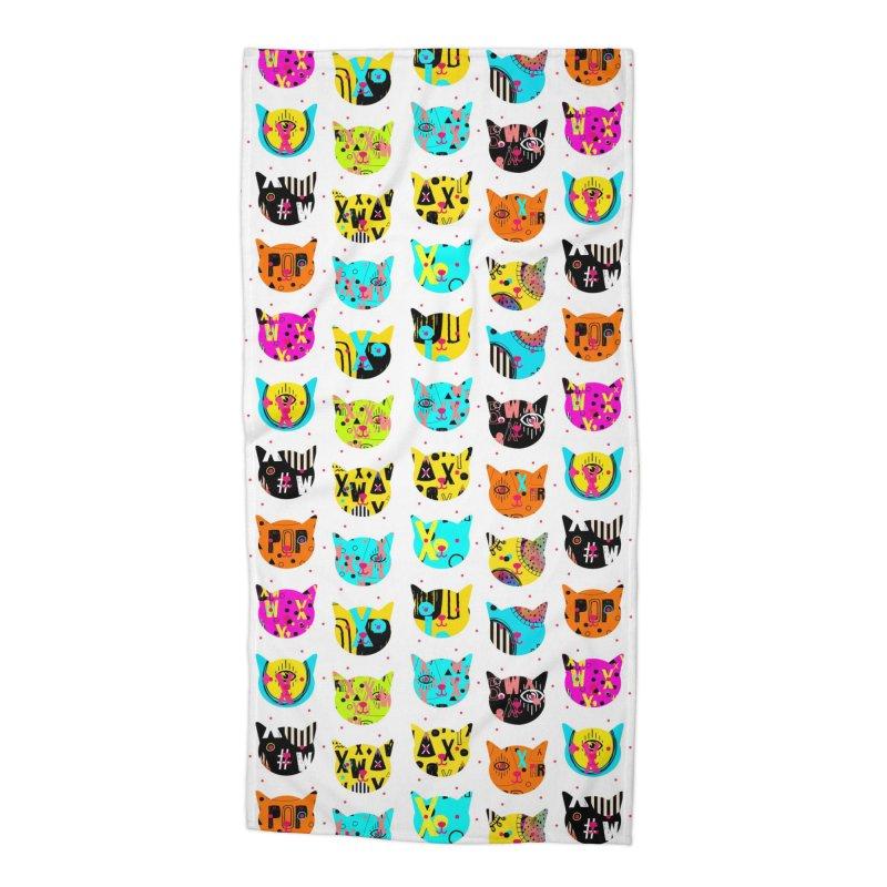 Cosmic Cats Series Accessories Beach Towel by Nikola Nupra
