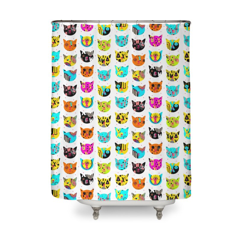 Cosmic Cats Series Home Shower Curtain by Nikola Nupra