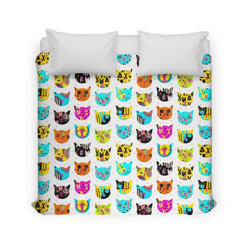 Cosmic Cats Series Home Duvet by Nikola Nupra
