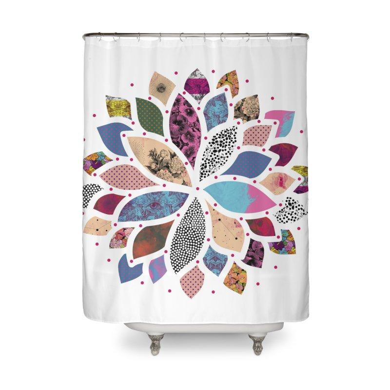 Cosmic Flower Home Shower Curtain by Nikola Nupra