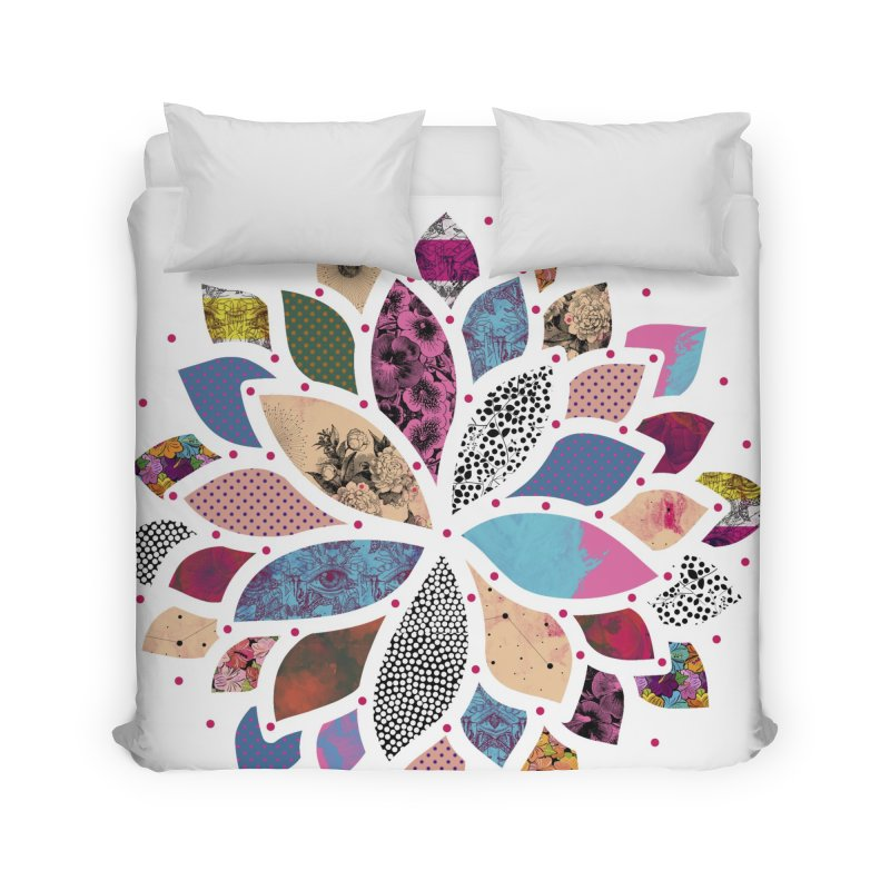 Cosmic Flower Home Duvet by Nikola Nupra