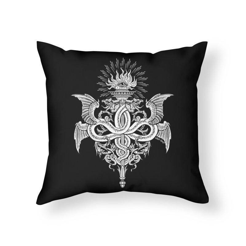 Demeter's Torch Home Throw Pillow by Nikol King's Artist Shop