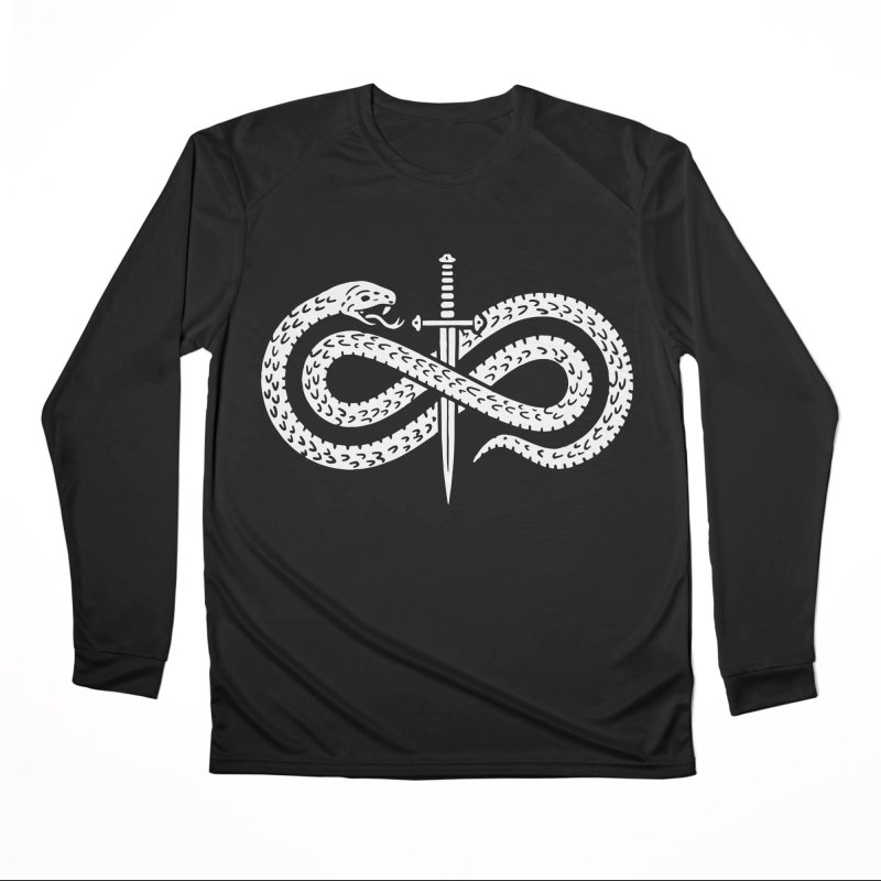 Snake and Dagger Men's Longsleeve T-Shirt by Nikol King's Artist Shop