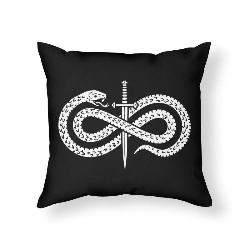 Snake and Dagger Home Throw Pillow by Nikol King's Artist Shop