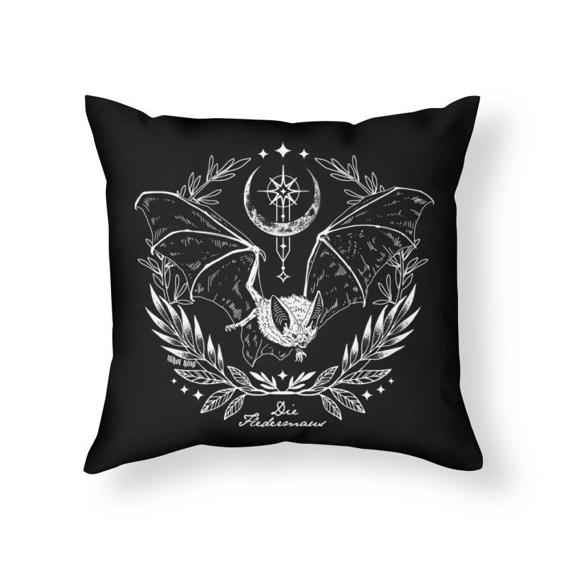 Die Fledermaus Home Throw Pillow by Nikol King's Artist Shop