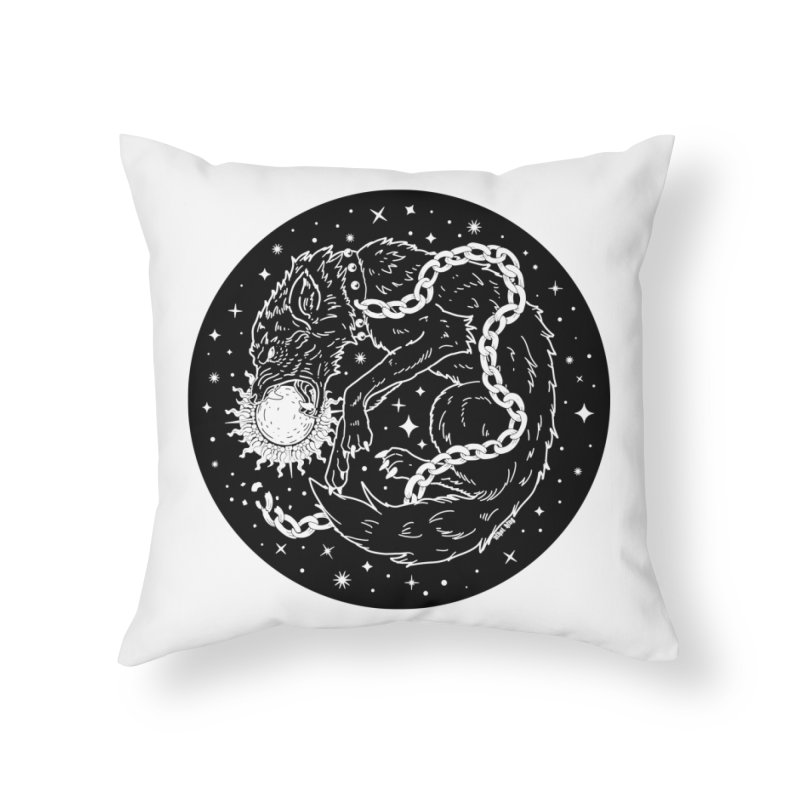 Devour The Light Home Throw Pillow by Nikol King's Artist Shop