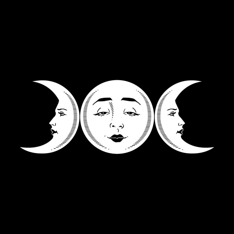 Triple Moon Goddess by Nikol King's Artist Shop