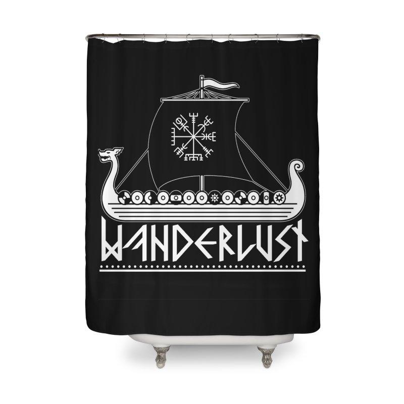 Wanderlust Home Shower Curtain by nikolking's Artist Shop