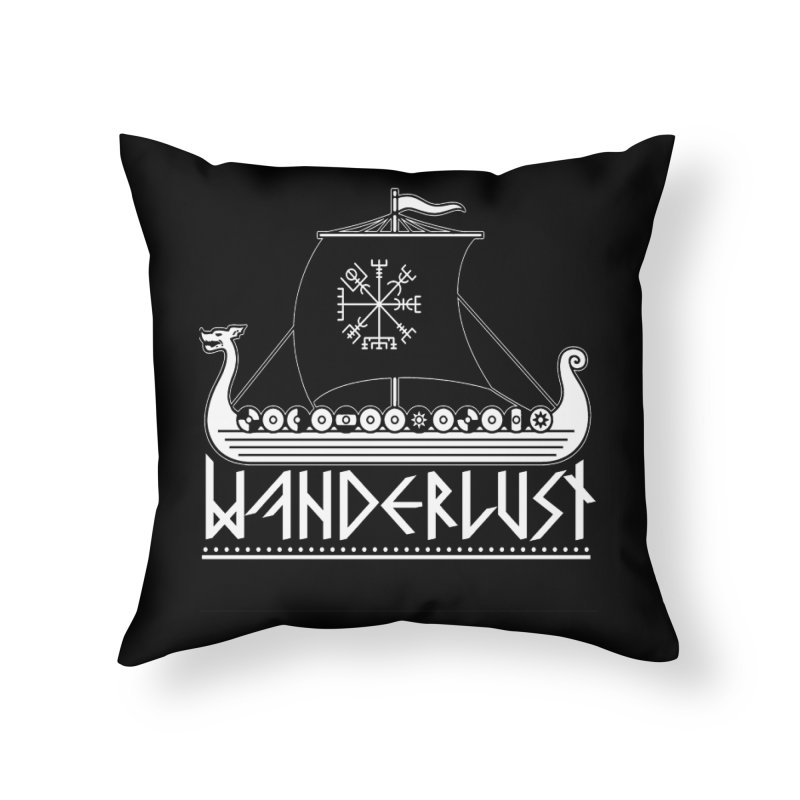 Wanderlust Home Throw Pillow by nikolking's Artist Shop