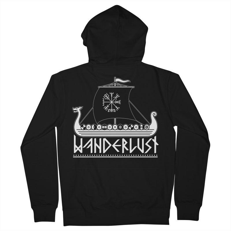 Wanderlust Men's Zip-Up Hoody by nikolking's Artist Shop