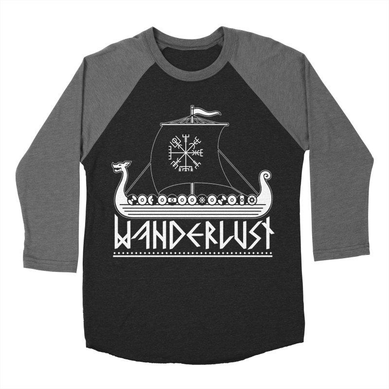 Wanderlust Men's Baseball Triblend T-Shirt by nikolking's Artist Shop