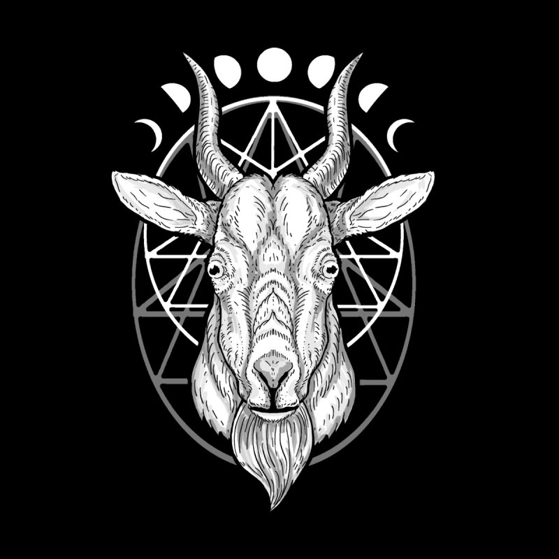 Sacred Goat Women's Fitted T-Shirt by nikolking's Artist Shop