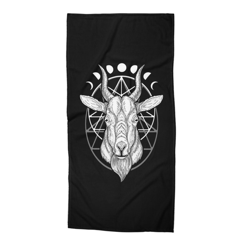 Sacred Goat Accessories Beach Towel by nikolking's Artist Shop