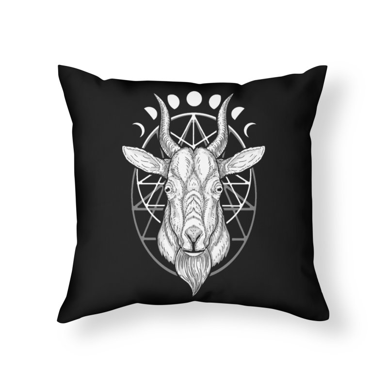 Sacred Goat Home Throw Pillow by nikolking's Artist Shop