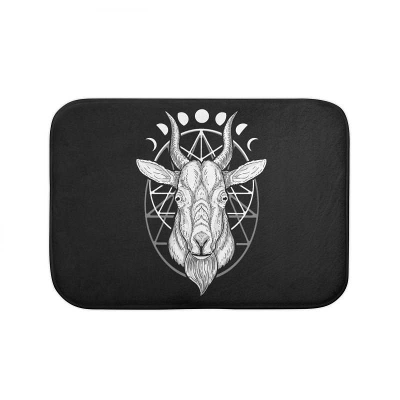 Sacred Goat Home Bath Mat by nikolking's Artist Shop