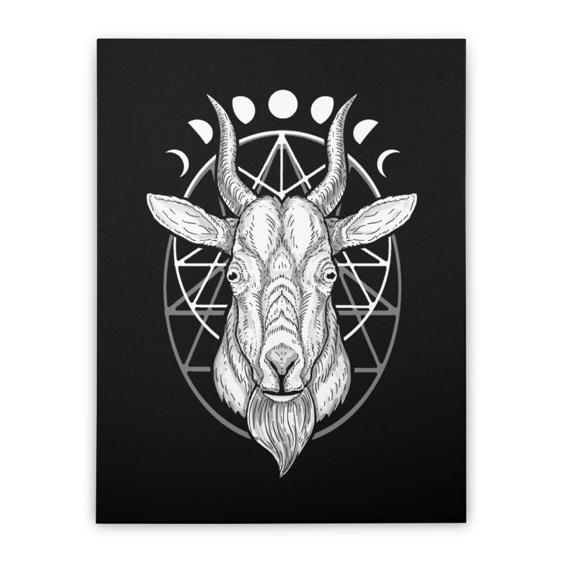 Sacred Goat Home Stretched Canvas by nikolking's Artist Shop