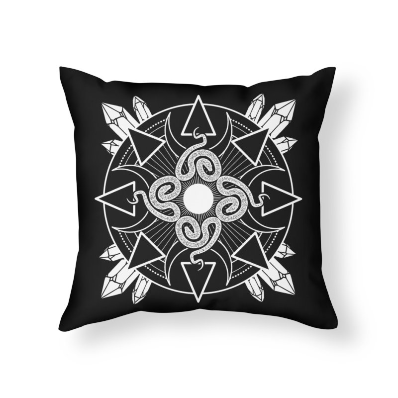 Serpent's Secret Home Throw Pillow by nikolking's Artist Shop