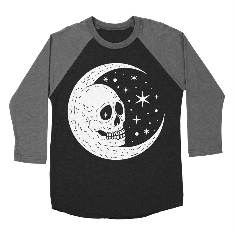 Cosmic Skull Men's Baseball Triblend Longsleeve T-Shirt by nikolking's Artist Shop