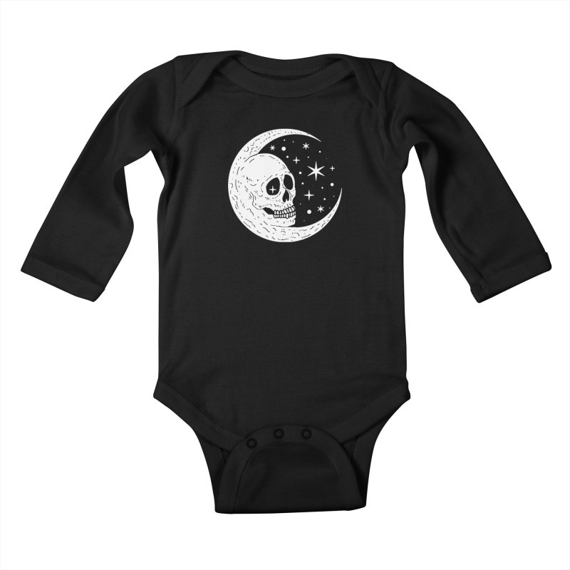 Cosmic Skull Kids Baby Longsleeve Bodysuit by nikolking's Artist Shop