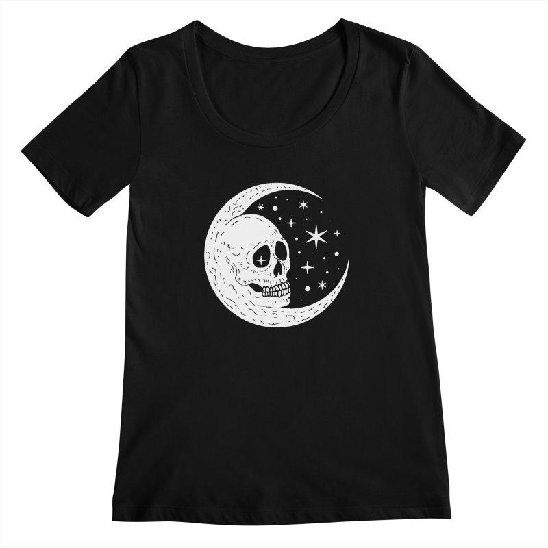 Cosmic Skull Women's Scoopneck by nikolking's Artist Shop