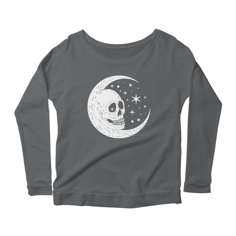 Cosmic Skull Women's Longsleeve Scoopneck  by nikolking's Artist Shop