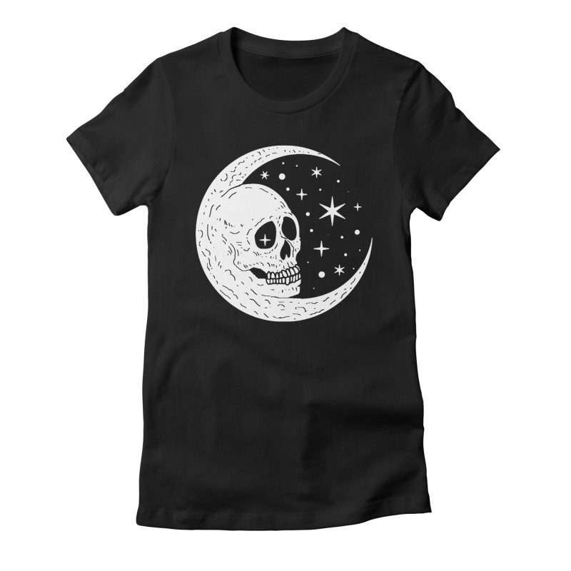 Cosmic Skull Women's Fitted T-Shirt by nikolking's Artist Shop
