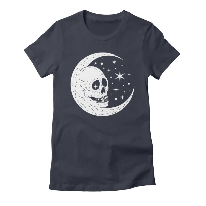 Cosmic Skull Women's Fitted T-Shirt by nikolking's Artist Shop