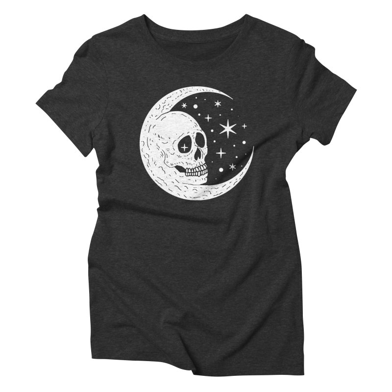 Cosmic Skull Women's Triblend T-Shirt by nikolking's Artist Shop