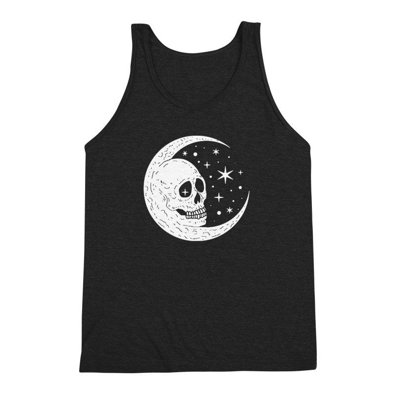 Cosmic Skull Men's Triblend Tank by nikolking's Artist Shop