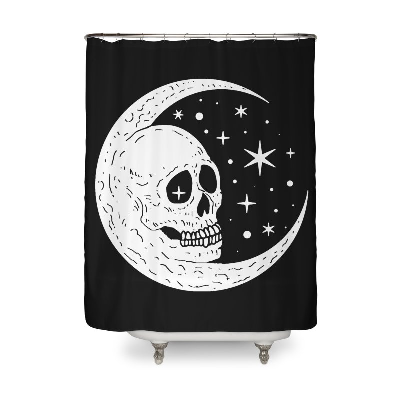 Cosmic Skull Home Shower Curtain by nikolking's Artist Shop