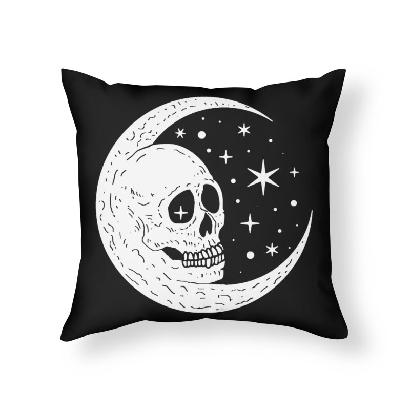 Cosmic Skull Home Throw Pillow by nikolking's Artist Shop