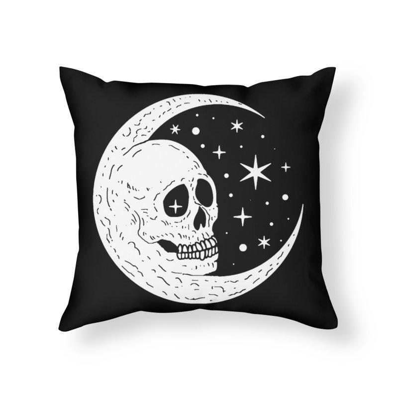 Cosmic Skull Home Throw Pillow by nikolking's Artist Shop