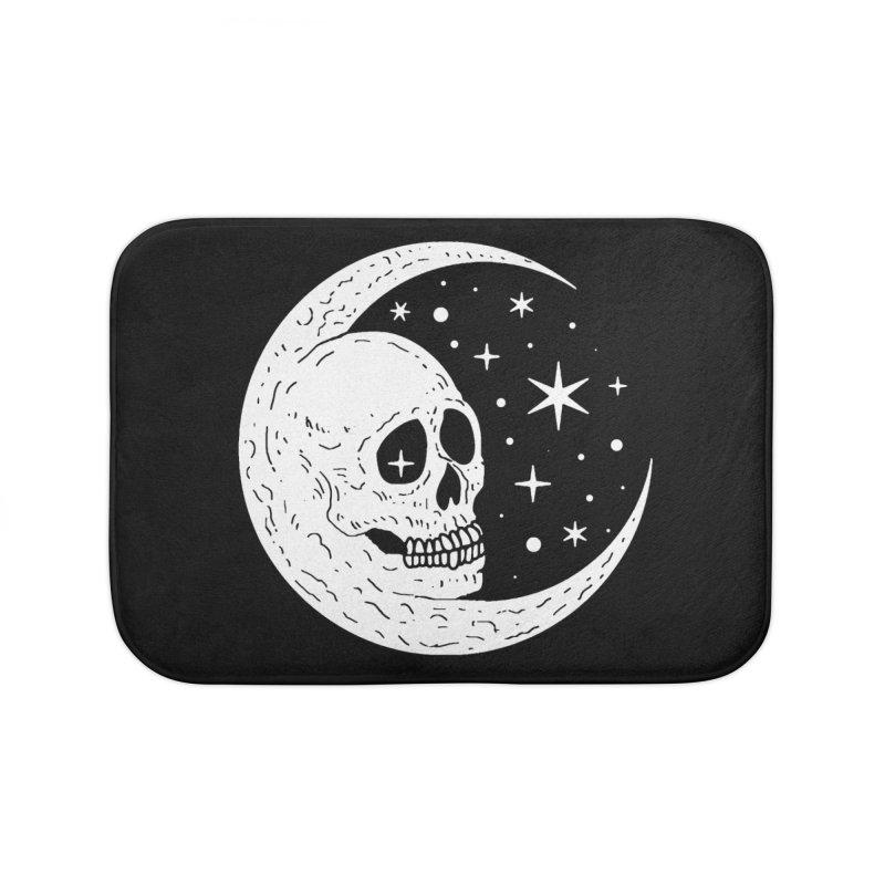 Cosmic Skull Home Bath Mat by nikolking's Artist Shop