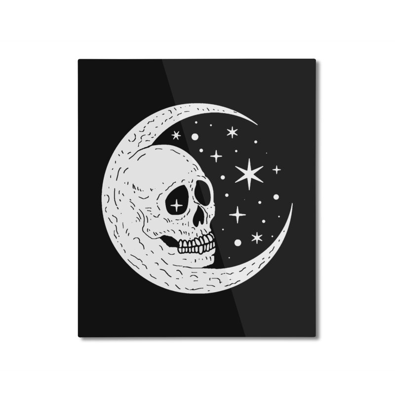 Cosmic Skull Home Mounted Aluminum Print by nikolking's Artist Shop