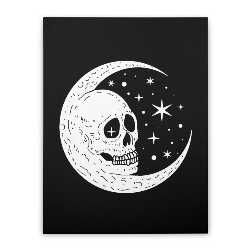 Cosmic Skull Home Stretched Canvas by nikolking's Artist Shop