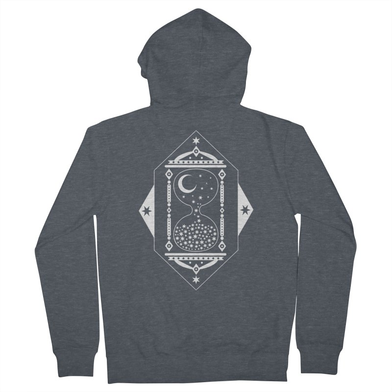 The Hours Glass Women's French Terry Zip-Up Hoody by nikolking's Artist Shop